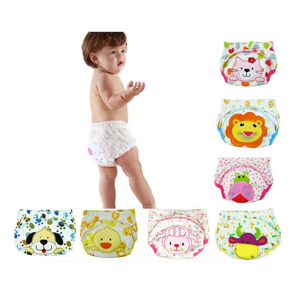 CuteOn 7 pack Baby Toddler Girls Boys Cotton Potty Training Pants Reusable 90cm