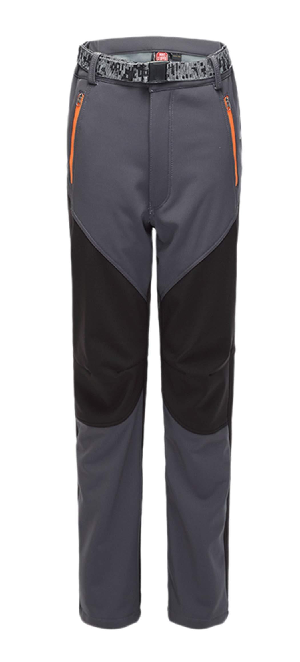 CATERTO Women's Outdoor Windproof Waterproof Softshell Fleece Snow Pants Grey S by CATERTO