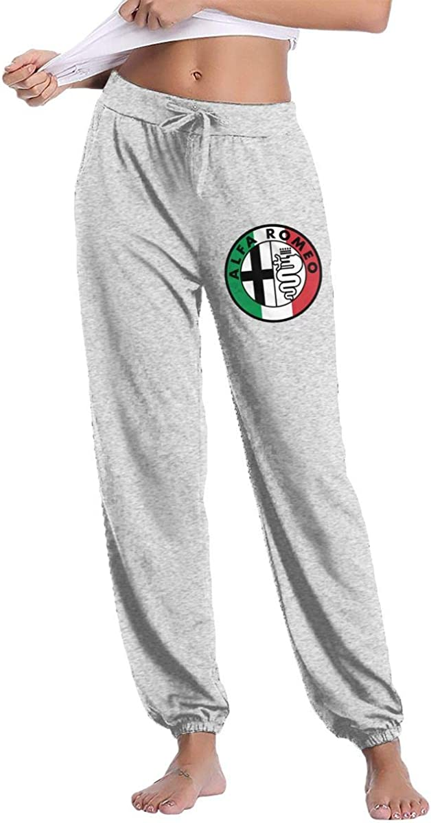 Alfa Romeo Italy Flag Women's Casual Sweatpants Fitness Training Jogger Pant