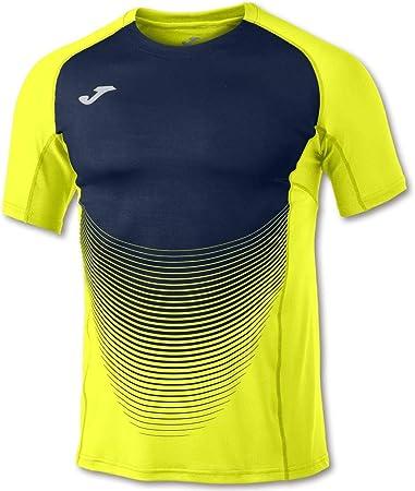 Joma - Camiseta Elite Vi Amarillo-Marino M/C Hombre Hombre