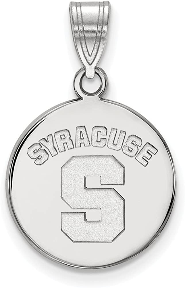 925 Sterling Silver Rhodium-plated Laser-cut Virginia Tech XL Disc Pendant