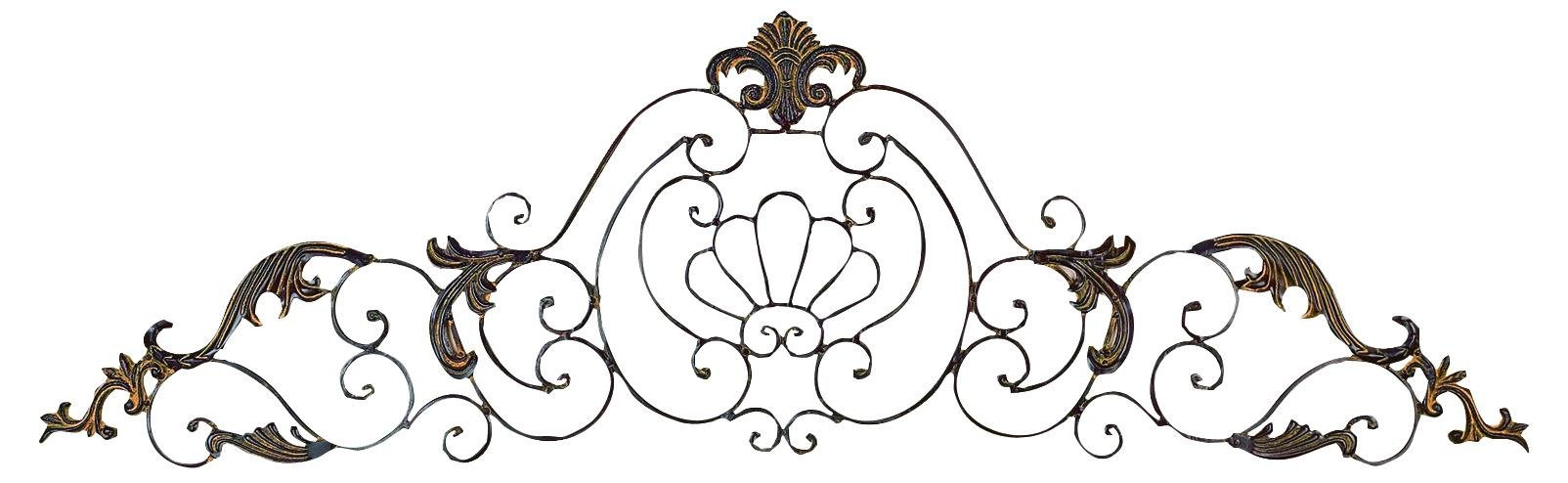 Deco 79 81380 Crown Iron Scroll Wall Decorative Sculpture