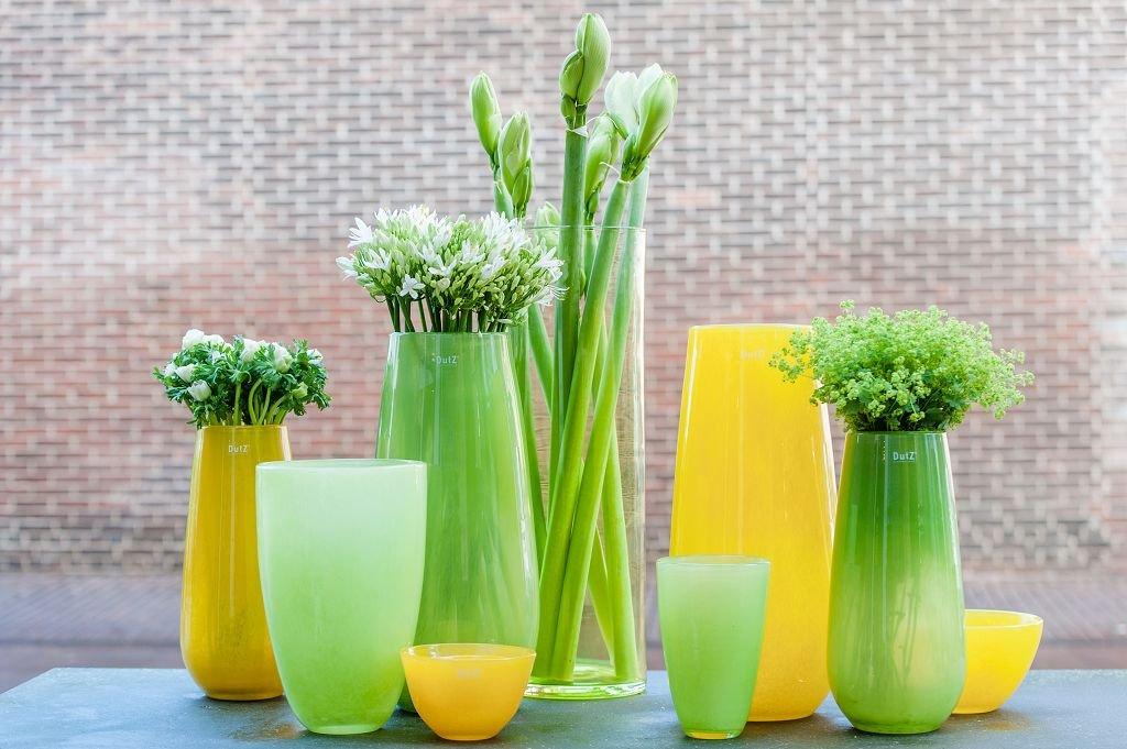 Vase Dutz FLOWERVASE, lightgreen (H26 (H26 (H26 D16) f8b706