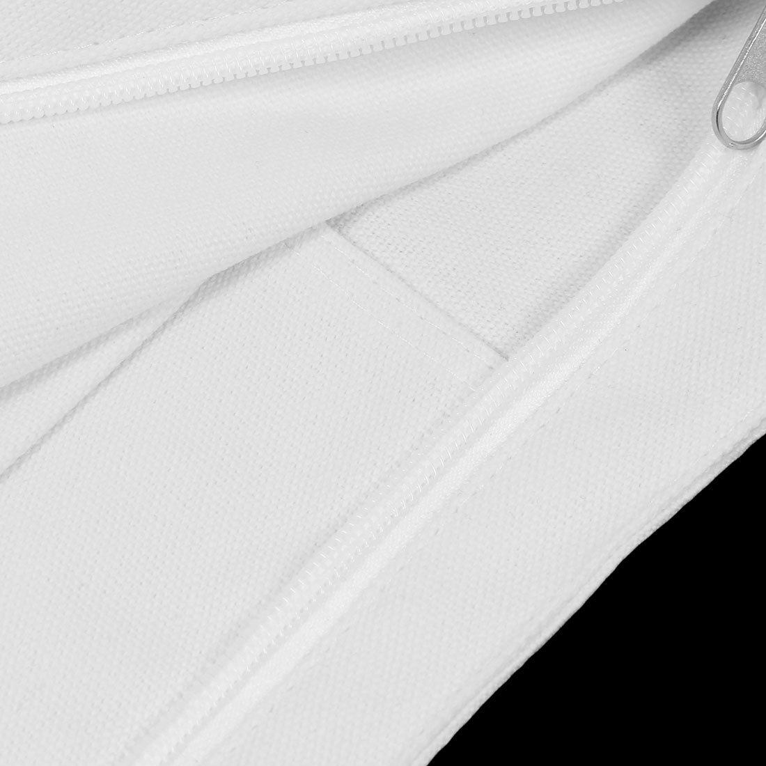 Amazon.com: Patrón eDealMax Carta lienzo Señora Fuera reutilizables ropa Holder mano del hombro de la bolsa de asas blanca: Kitchen & Dining