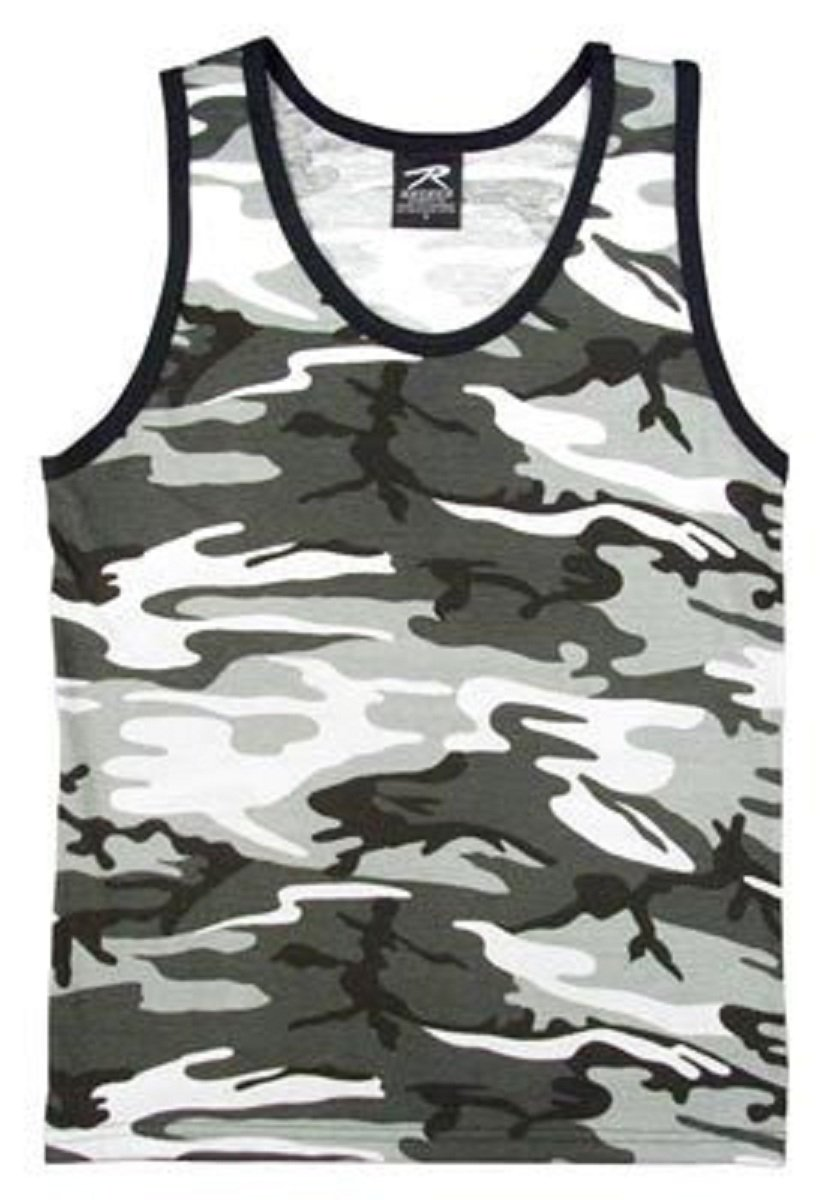 City Camouflage Tank Top 6601 Size S 6601-S