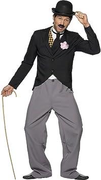 NET TOYS Traje de Charlie Chaplin Vestuario años 20 Estrella Disfraz