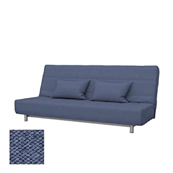 Soferia Replacement Cover for IKEA BEDDINGE 3-seat Sofa-Bed, Fabric Nordic Denim
