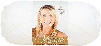 Lion Brand Yarn 860-100 Vanna's Choice Yarn, White
