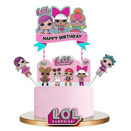 Amazon.com: LOL - Decoración para tarta de cumpleaños, color ...