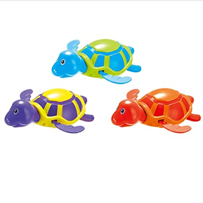 Meolin Random Color Baby Bath Clockwork Water Toy Water Swimming Toy Bathtub Plastic Toy ,Small turtle (random color),4.334.131.97in: Health & Personal Care