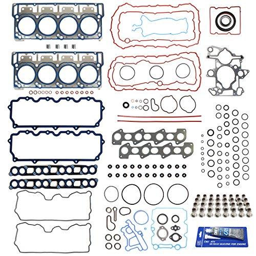 Set Performance Full Gasket - New MLS Full Gasket Set (Head Gasket Set - 18mm dowels & Conversion/Lower Set), RTV Silicone for 03-10 Ford 6.0L PowerStroke Diesel Turbo F-250 F-350 F-450 F-550 E350 E450 Super Duty