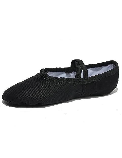 06281236b Zapatillas de Ballet Clásico de Suela Partida Para Mujer Niña y Adulta  Zapatillas Blandas de Danza y Gimnasia  Amazon.es  Zapatos y complementos