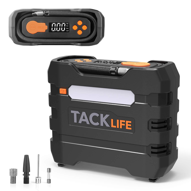 TACKLIFE ACP1B Compresor Aire Coche, Inflador Digital 150PSI, Compresor de Aire 12V, Bomba