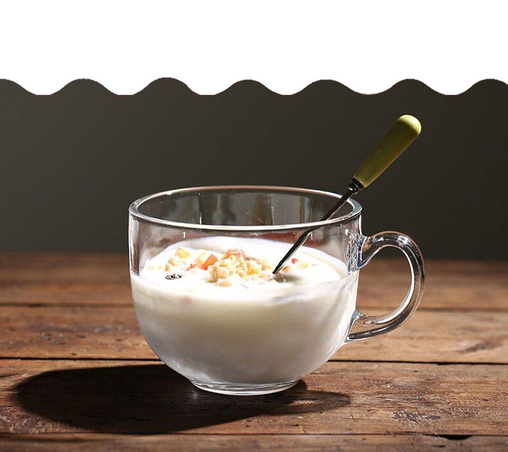 Pulur el cristal hogar Bulk leche taza cereales desayuno taza transparente taza con la taza de té taza de agua avena: Amazon.es: Hogar