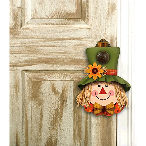 Fall Harvest Plush Scarecrow Door Hanger, 12