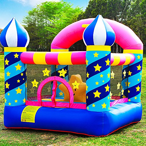 (Doctor Dolphin Inflatable Bouncer Kids Bounce House for Birthday Party with Air Blower)