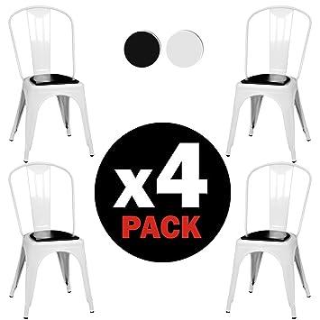 Due HomenbspLot De 4nbspchaises Style Tolix Avec Structure Meacutetallique