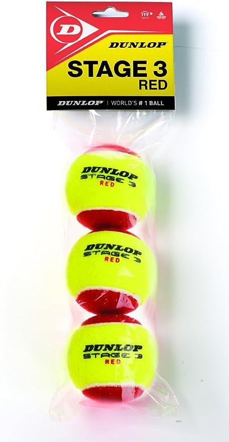 Dunlop Pelotas Mini Tenis Stage 3 Red x3: Amazon.es: Deportes y ...