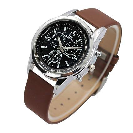 Zolimx Relojes Relojes Hombre, Hombre Elegantes Cuero de Regalos Originales