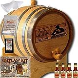 Personalized Outlaw Kit (Orange Brandy) ''MADE BY'' American Oak Barrel - Design 077: Dad's Poker Reserve - Master Distiller Series (3 Liter)