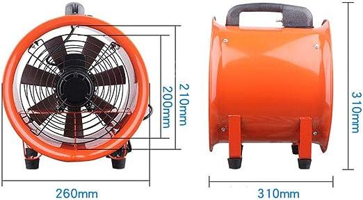 Blower Ventilador Industrial PortáTil, Potencia ElectromecáNica De Cobre Completa 250w, Velocidad 2800r / Min, Potencia EóLica MáXima 1300m3 / H, DiáMetro 200mm.: Amazon.es: Hogar