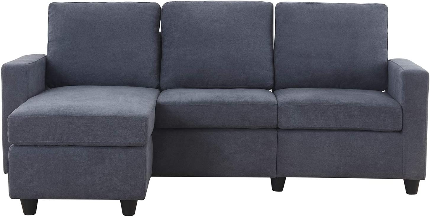 HONBAY CONVERTIBLE SECTIONAL SOFA: