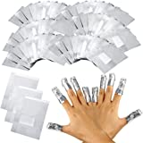 Durable 100Pcs 50Pcs Aluminium Foil Remover Wraps With Acetone Nail Art Soak Off Acrylic Gel Nail Polish Removal (Color : 100pieces)