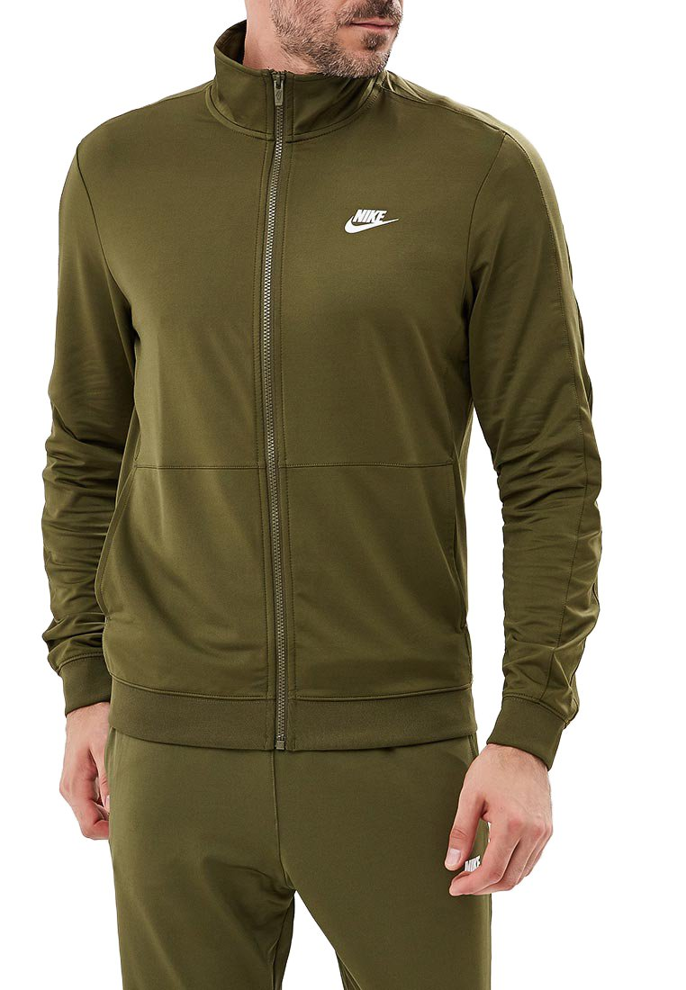 NIKE Men's Sportswear Tracksuit (Olive Canvas/White, M)