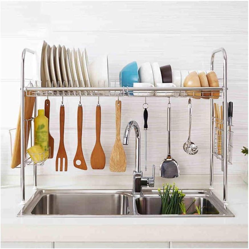 .キッチンラック キッチンシェルフ304ステンレス製食器ラック排水ラック収納用食器棚