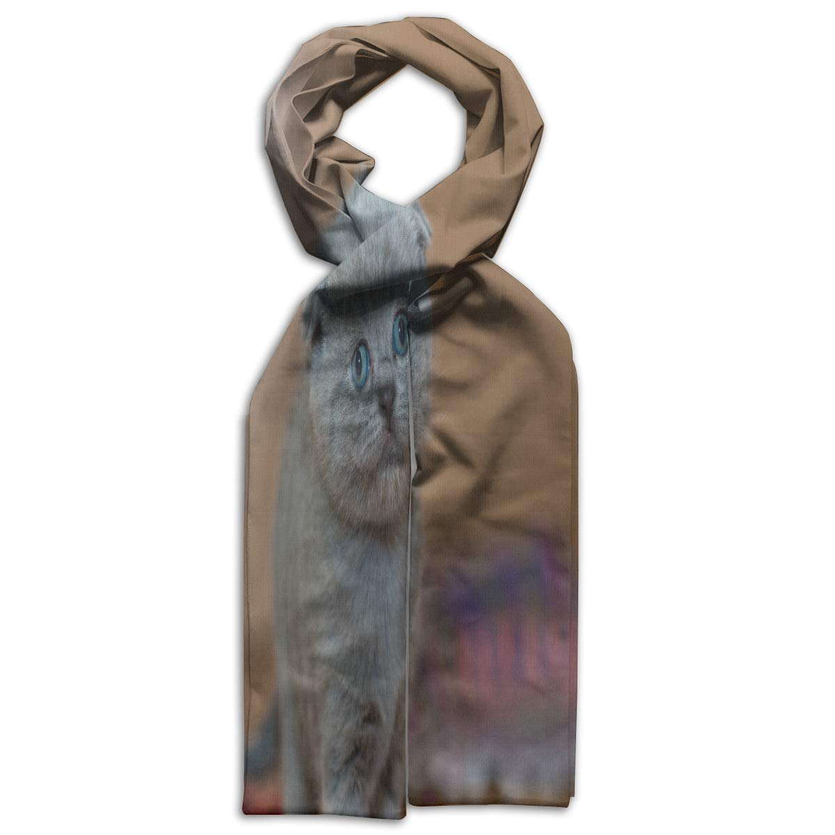 Womens Faux Cashmere Plaid Winter Warm Pashmina Shawls Scarf Cable Knit Infinity Scarf Paymenow