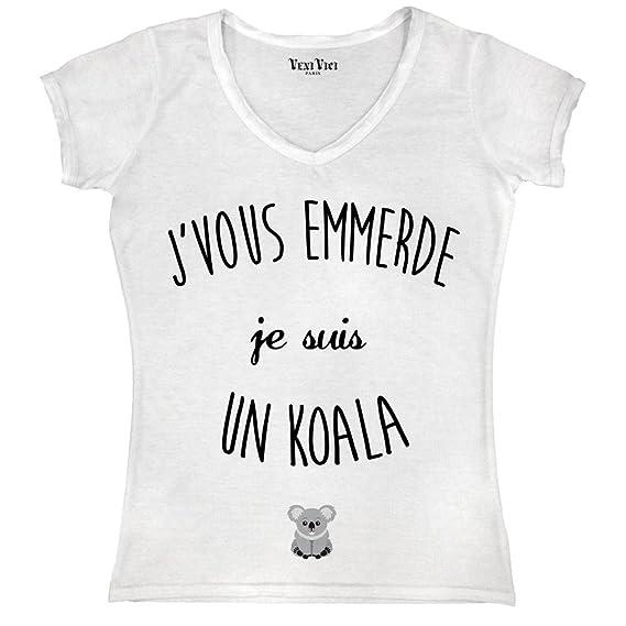 Femme T Shirt Veni Suis KoalaAmazon Vous Emmerde Je Un J Vici xWErdQBCeo