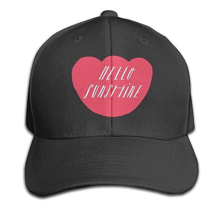 563f4b735ddf8 Amazon.com   Yishuo Hello Sunshine - Mug Unisex Solid Color CapTennis Hat  Adjustable   Sports   Outdoors