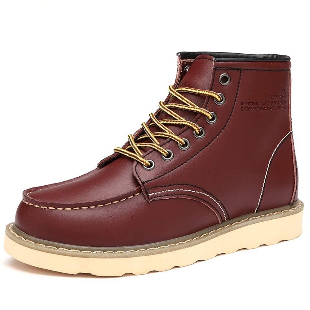 Ywqwdae Mens Classic Chukka Chukka Chukka Stiefel Weiche Sohle Rutschfeste Echtleder Stiefeletten (Farbe   Rot, Größe   EU 39) a793e5