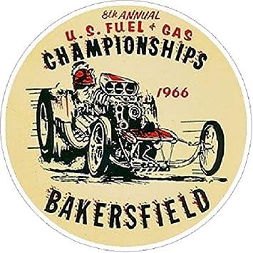 Bakersfield 1966 u s fuel gas championships vintage classic window decal nhra