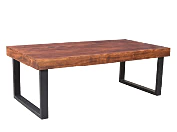 Woodkings Couchtisch Ettrick 116x57cm Holz Akazie Braun Echtholz Modern Design Massivholz Lounge Coffee Table Gunstig