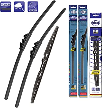 Nissan Note 2006-2013 wiper blades alca SPECIAL front and rear alca CLASSIC