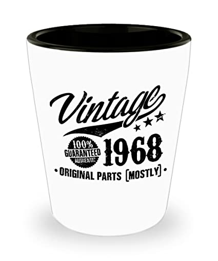 Image Unavailable Not Available For Color 50th Birthday Gift Vintage 1968 Shot Glass