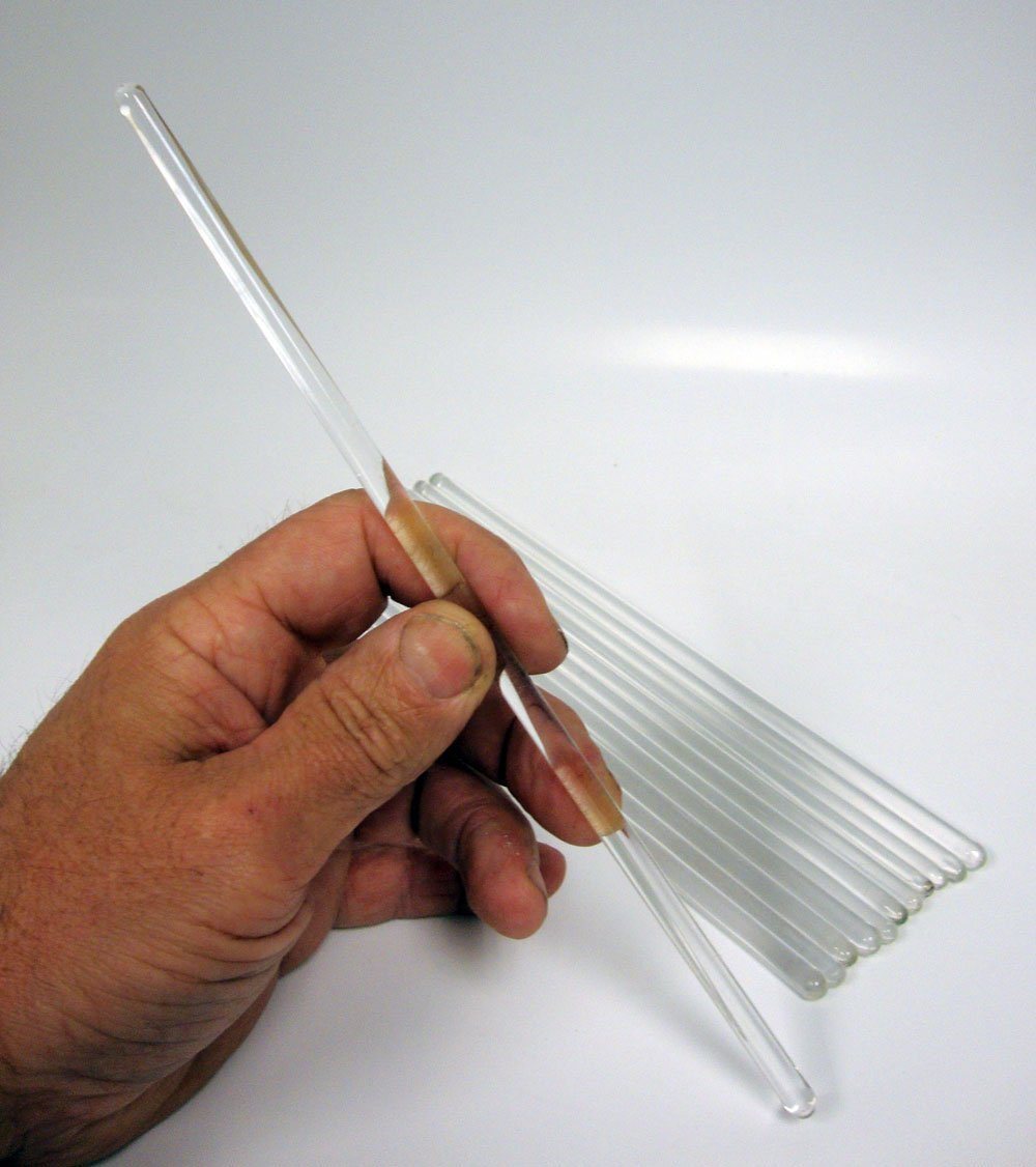 Glass Stirring Rods, 10 Inch, Pack of 12 (Free USPS Shipping) MHB