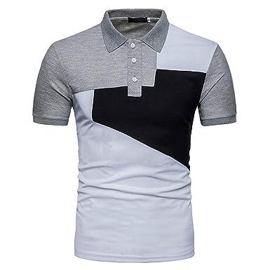 Camisas Polo Camisetas Hombre Slim Fit Color De Mode De Manga ...