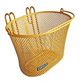 Biria Basket with hooks Yellow/Orange, Front, Removable, wire mesh SMALL kids Bicycle basket, Yellow/Orange