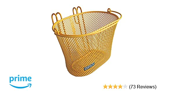 Biria Basket with hooks Yellow//Orange Front Removable wire mesh SMALL kids Goods