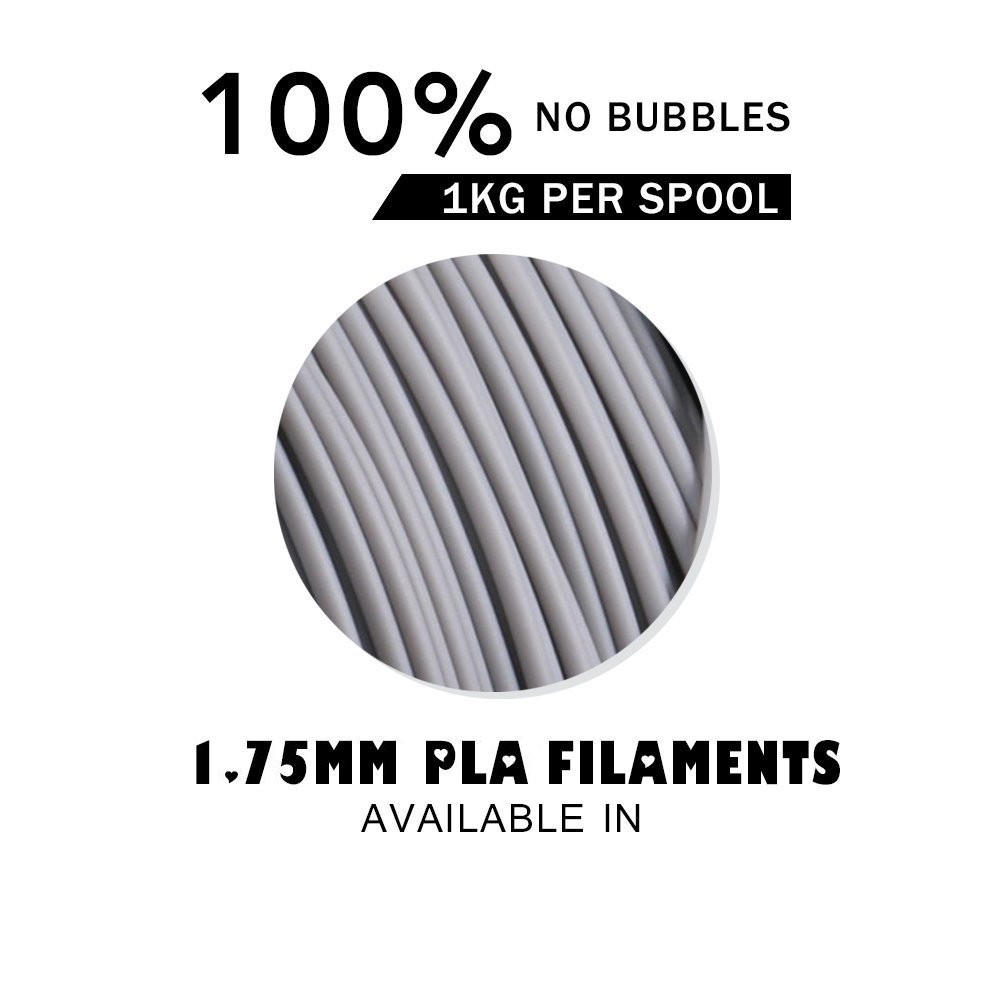 Spool // PERSEUS 3D PLA Filament 1.75mm Gray 1KG 0.05mm Fit for 3D Printers /& Pen,Accuracy