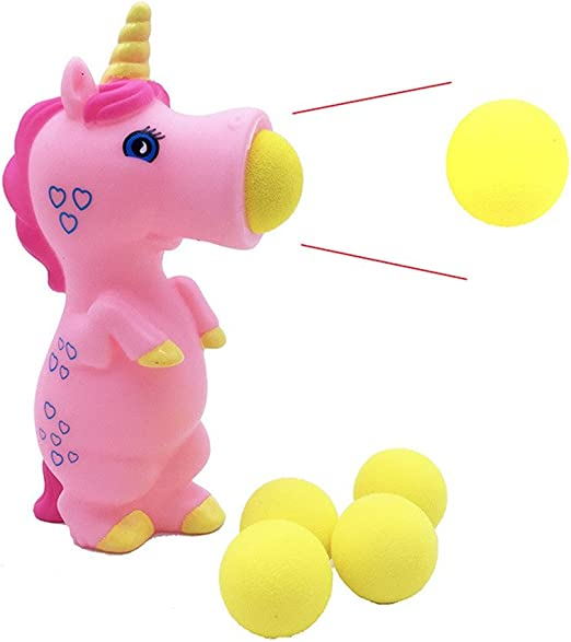 Baokee - Pelota de unicornio de cañón, juguete de unicornio rosa ...