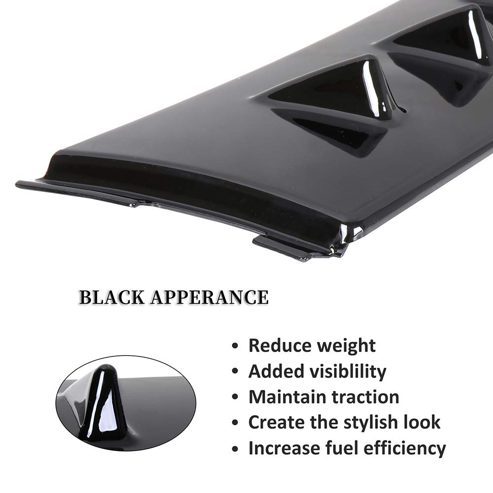 ECCPP ABS Rear Roof 8 Shark Fin Spoiler Wing Glossy Replacement fit for 2003-2008 Mitsubishi Lancer