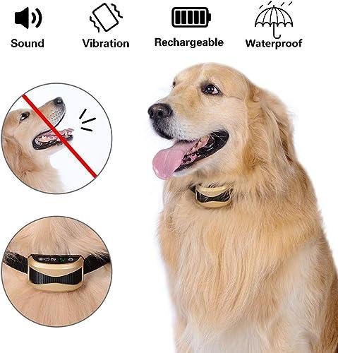 BixMe Dog Bark Collar Anti Bark Collar Humane No Bark Collar with Beep Sound, Vibration and Rechargeable for Small Medium Large Dogs Stop Barking Collar Waterproof