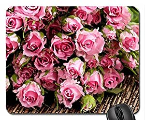 Pink Roses Mouse Pad, Mousepad (Flowers Mouse Pad, Watercolor style)