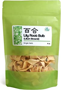 New Packaging Lilium Brownii Lily Root Bulb Bai He 龙牙百合 4oz