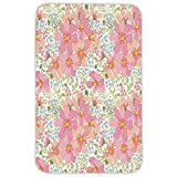 Rectangular Area Rug Mat Rug,Light Pink,Vibrant Colorful Summer Field Meadow Inflorescence Herbs Foliage Artistic Garden,Multicolor,Home Decor Mat with Non Slip Backing