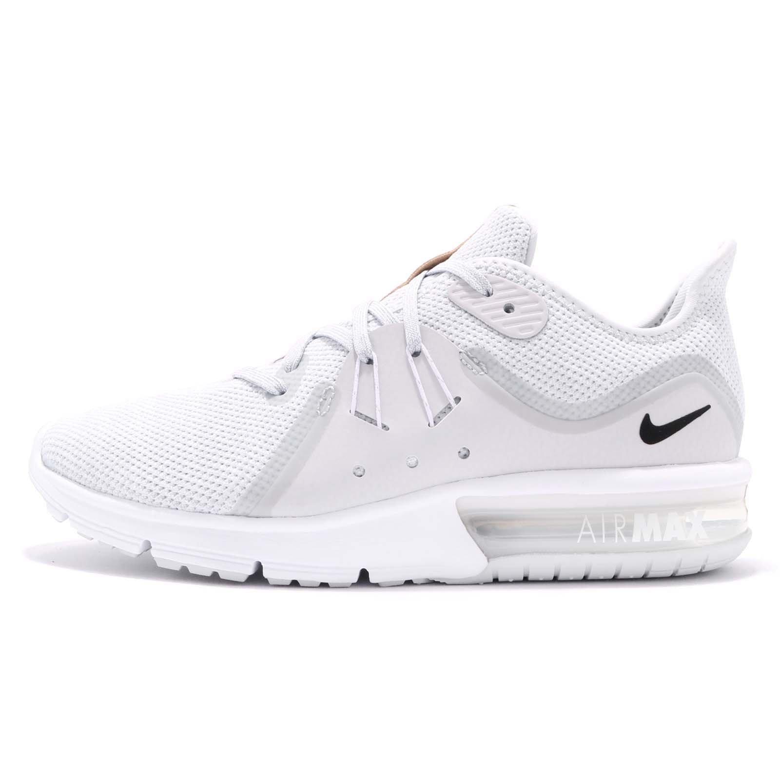sports shoes 09d9c 7471e Galleon - Nike Air Max Sequent 3 (12, Pure Platinum Black White 2)