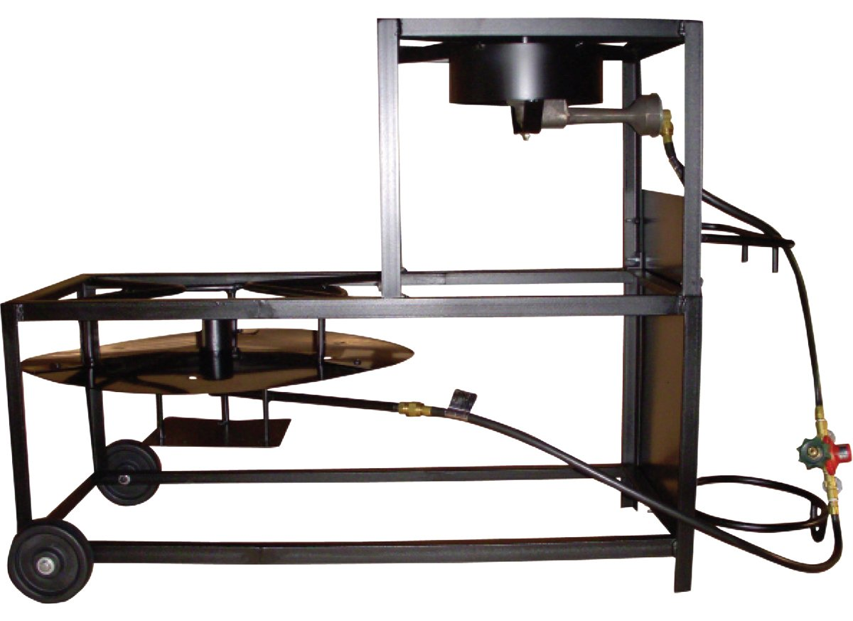 King Kooker 94/90TKD Portable Dual-Burner Propane 30-Inch Patio Cart